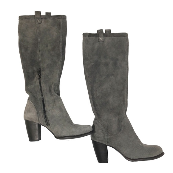 b73c47ca06f UGG Dark Gray Suede Riding Boots Size 6.5
